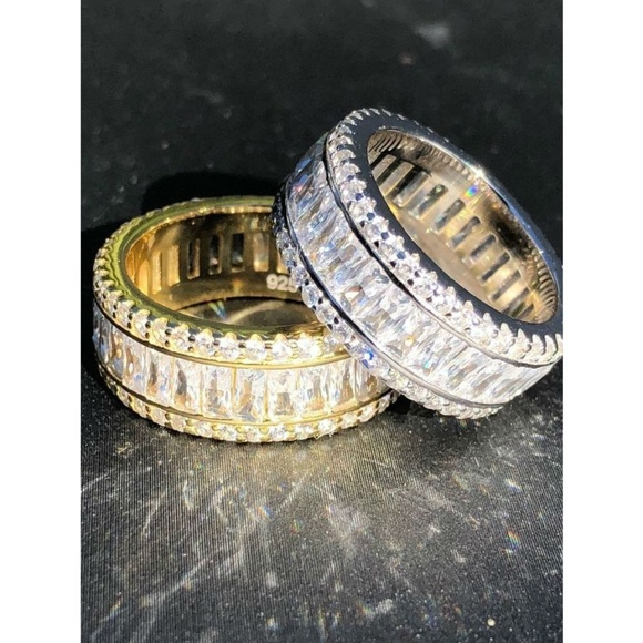 Tennis Style Eternity Bands Men Jewelry